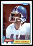 1981 Topps #223  Matt Robinson  Front Thumbnail