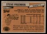 1981 Topps #443  Steve Freeman  Back Thumbnail