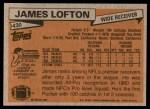 1981 Topps #430  James Lofton  Back Thumbnail