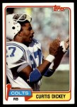 1981 Topps #446  Curtis Dickey  Front Thumbnail