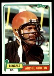 1981 Topps #38  Archie Griffin  Front Thumbnail