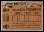 1981 Topps #167  Dave Brown  Back Thumbnail