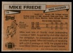 1981 Topps #74  Mike Friede  Back Thumbnail