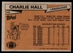 1981 Topps #89  Charlie Hall  Back Thumbnail