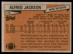 1981 Topps #106  Alfred Jackson  Back Thumbnail