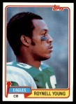 1981 Topps #72  Roynell Young  Front Thumbnail