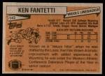 1981 Topps #142  Ken Fantetti  Back Thumbnail