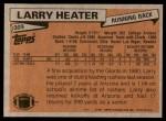 1981 Topps #309  Larry Heater  Back Thumbnail