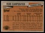 1981 Topps #231  Rob Carpenter  Back Thumbnail