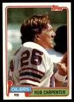 1981 Topps #231  Rob Carpenter  Front Thumbnail
