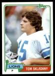 1981 Topps #324  Tom Skladany  Front Thumbnail
