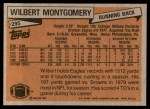 1981 Topps #295  Wilbert Montgomery  Back Thumbnail