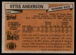 1981 Topps #365  Ottis Anderson  Back Thumbnail
