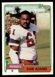 1981 Topps #352  Sam Adams  Front Thumbnail