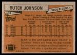 1981 Topps #229  Butch Johnson  Back Thumbnail