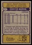 1979 Topps #11  Chester Marcol  Back Thumbnail