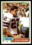 1981 Topps #443  Steve Freeman  Front Thumbnail
