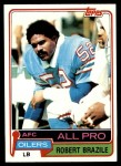 1981 Topps #450  Robert Brazile  Front Thumbnail