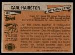 1981 Topps #480  Carl Hairston  Back Thumbnail