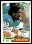 1981 Topps #527  Duriel Harris  Front Thumbnail