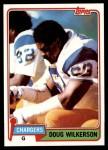1981 Topps #447  Doug Wilkerson  Front Thumbnail