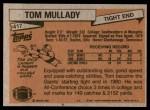 1981 Topps #417  Tom Mullady  Back Thumbnail