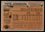 1981 Topps #427  Pete Johnson  Back Thumbnail