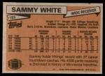 1981 Topps #183  Sammie White  Back Thumbnail