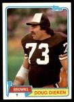 1981 Topps #49  Doug Dieken  Front Thumbnail