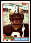 1981 Topps #158  Archie Manning  Front Thumbnail