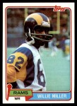 1981 Topps #24  Willie Miller  Front Thumbnail