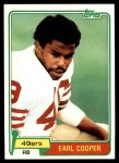 1981 Topps #75  Earl Cooper  Front Thumbnail