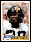 1981 Topps #61  Sidney Thornton  Front Thumbnail