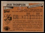 1981 Topps #81  Jack Thompson  Back Thumbnail