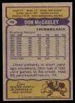 1979 Topps #49  Don McCauley  Back Thumbnail