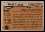 1981 Topps #238  Marty Lyons  Back Thumbnail