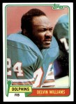 1981 Topps #287  Delvin Williams  Front Thumbnail