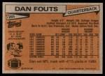 1981 Topps #265  Dan Fouts  Back Thumbnail