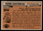 1981 Topps #342  Mark Gastineau  Back Thumbnail