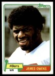 1981 Topps #263  James Owens  Front Thumbnail