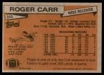 1981 Topps #245  Roger Carr  Back Thumbnail