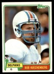1981 Topps #323  Bob Kuechenberg  Front Thumbnail