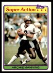 1981 Topps #379  Archie Manning  Front Thumbnail