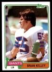 1981 Topps #374  Brian Kelley  Front Thumbnail