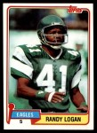 1981 Topps #377  Randy Logan  Front Thumbnail