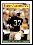 1981 Topps #218  Lester Hayes  Front Thumbnail