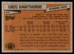 1981 Topps #297  Greg Hawthorne  Back Thumbnail