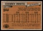 1981 Topps #300  Danny White  Back Thumbnail