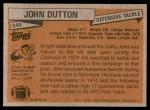 1981 Topps #249  John Dutton  Back Thumbnail