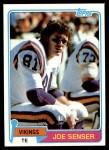 1981 Topps #217  Joe Senser  Front Thumbnail